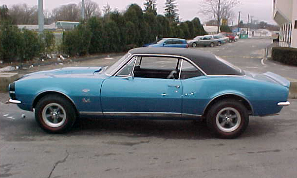 1967 CHEVROLET CAMARO RS/SS COUPE - Side Profile - 21666