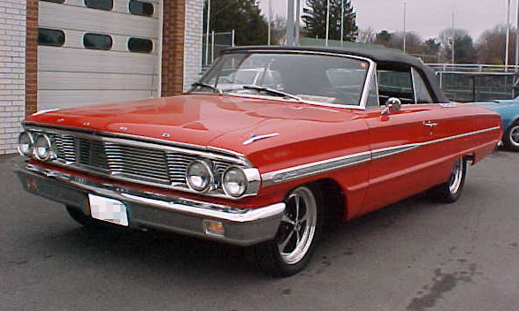 1964 FORD GALAXIE CUSTOM CONVERTIBLE - Front 3/4 - 21667