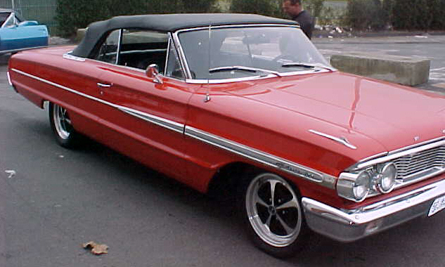 1964 FORD GALAXIE CUSTOM CONVERTIBLE - Side Profile - 21667