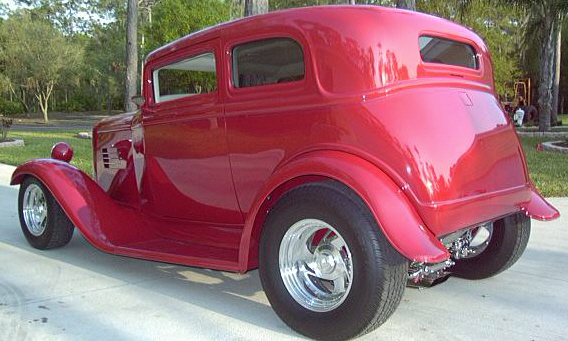 1932 FORD VICTORIA CUSTOM COUPE - Rear 3/4 - 21706