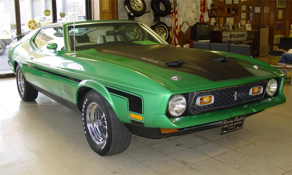 1971 FORD MUSTANG MACH 1 FASTBACK - Front 3/4 - 21711
