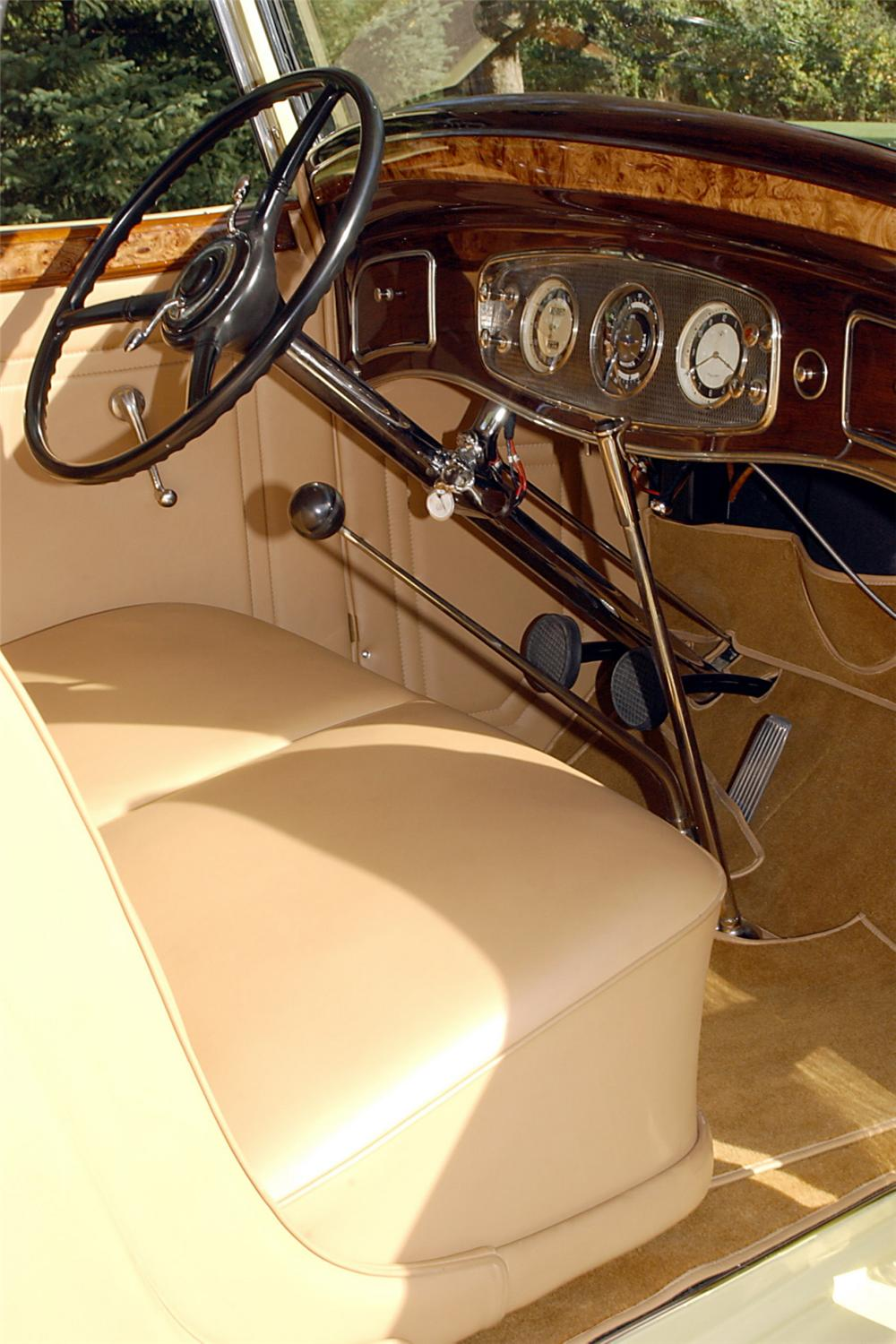 1934 LINCOLN 523 DIETRICH ROADSTER - Interior - 21778