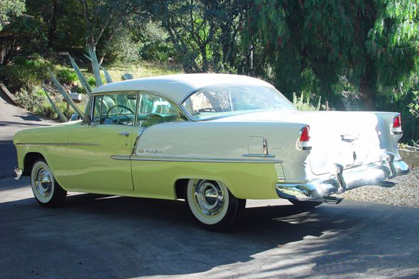 1955 CHEVROLET BEL AIR 2 DOOR HARDTOP - Rear 3/4 - 21779