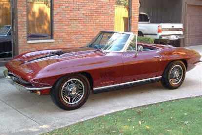 1967 CHEVROLET CORVETTE 427/400 CONVERTIBLE - Front 3/4 - 21788