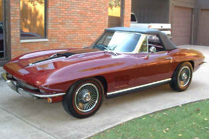 1967 CHEVROLET CORVETTE 427/400 CONVERTIBLE - Rear 3/4 - 21788