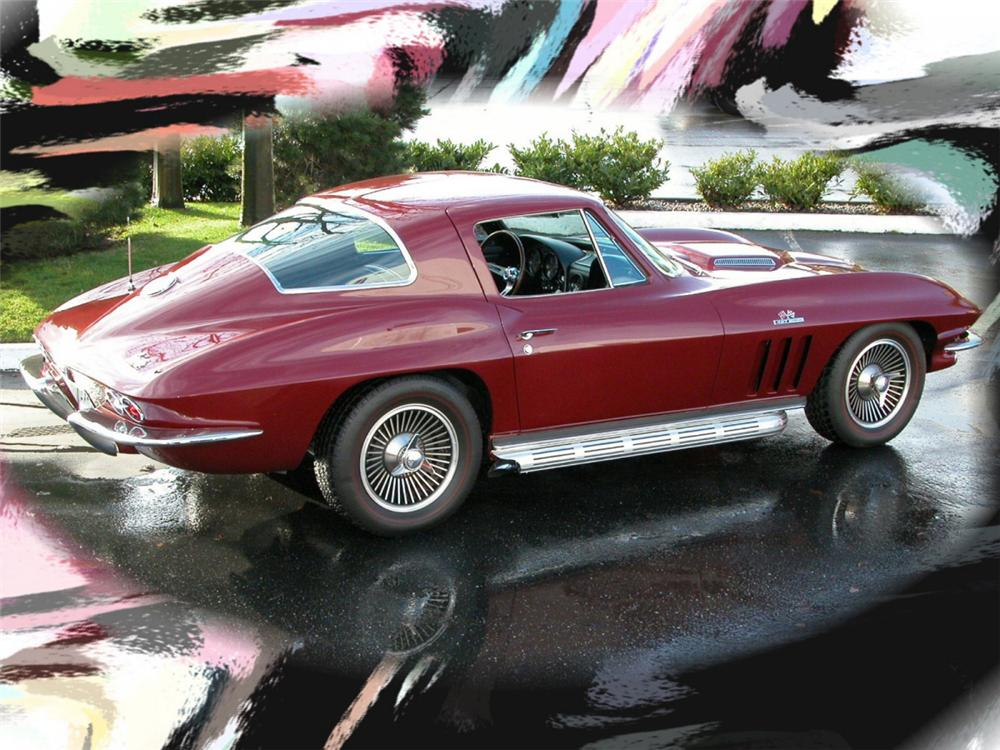 1966 CHEVROLET CORVETTE COUPE - Front 3/4 - 21796
