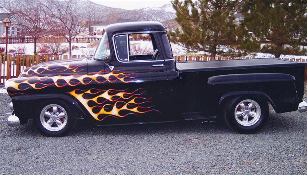 1958 CHEVROLET C-1 CUSTOM PICKUP - Side Profile - 21806