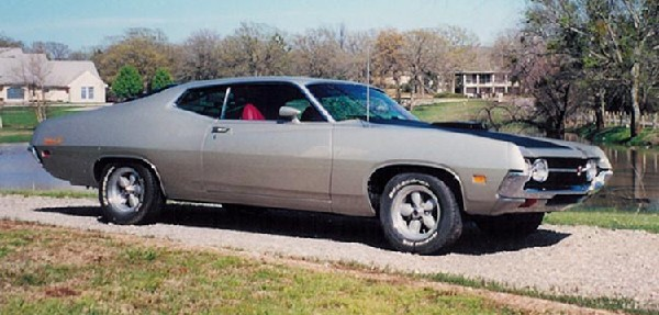 1971 FORD TORINO COBRA FASTBACK - Side Profile - 21906