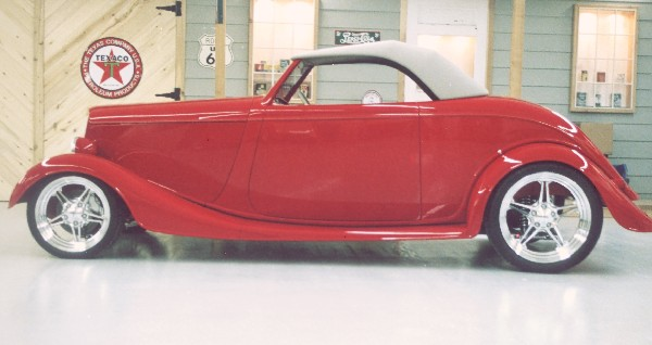 1933 FORD ROADSTER - Side Profile - 21925