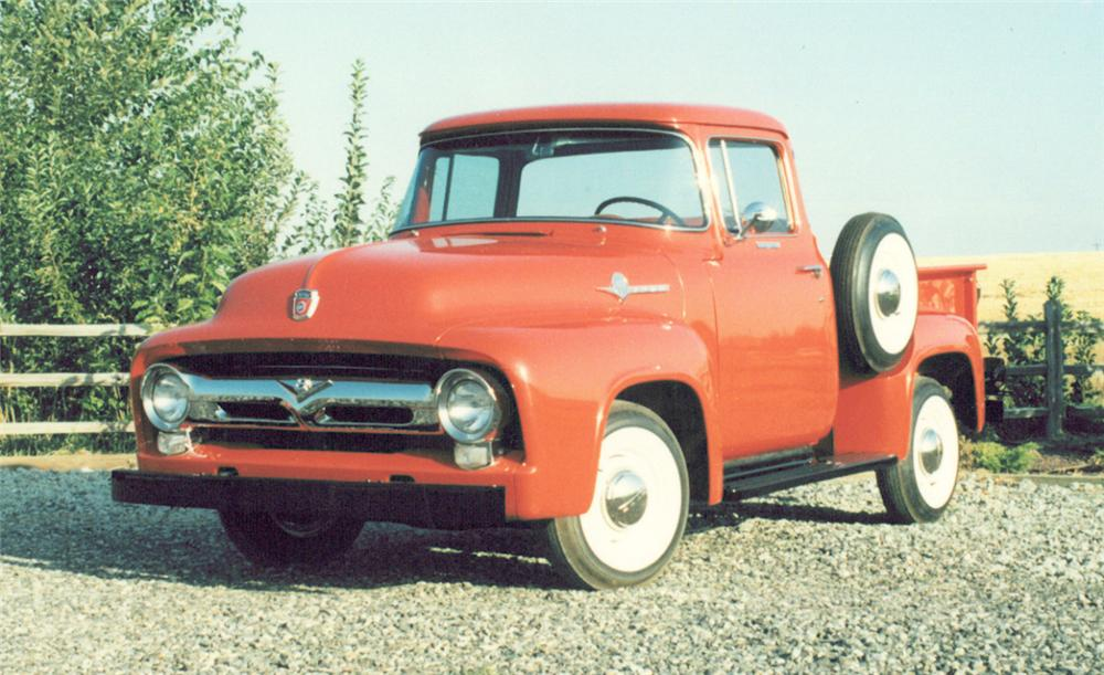 1956 FORD F-100 CUSTOM CAB SHORT BED - Front 3/4 - 21942