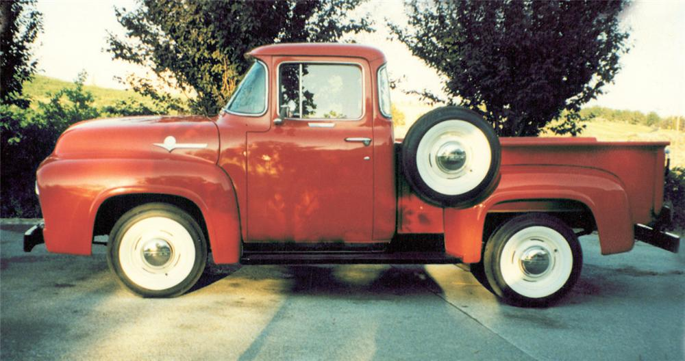1956 FORD F-100 CUSTOM CAB SHORT BED - Side Profile - 21942