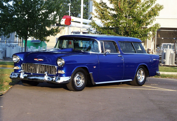 1955 CHEVROLET BEL AIR NOMAD STATION WAGON - Front 3/4 - 21945
