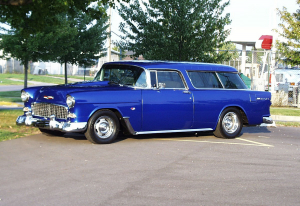 1955 CHEVROLET BEL AIR NOMAD STATION WAGON - Side Profile - 21945
