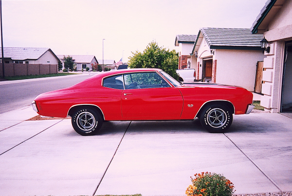 1970 CHEVROLET CHEVELLE SS 2 DOOR HARDTOP - Side Profile - 21956