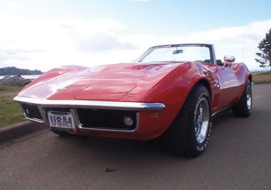 1969 CHEVROLET CORVETTE 427 STINGRAY CONVERTIBLE - Front 3/4 - 21970