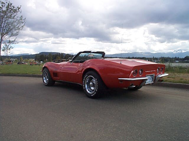 1969 CHEVROLET CORVETTE 427 STINGRAY CONVERTIBLE - Rear 3/4 - 21970