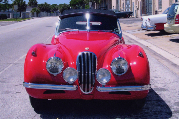 1954 JAGUAR XK 120 SE CONVERTIBLE - Side Profile - 21977