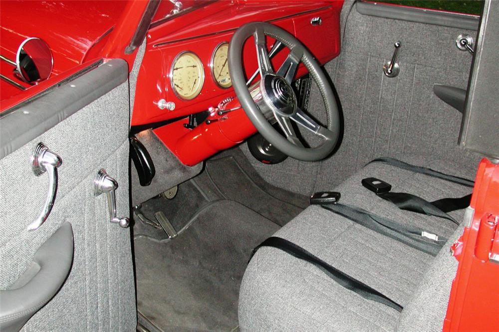 1939 FORD DELUXE CONVERTIBLE SEDAN STREET ROD - Interior - 21980