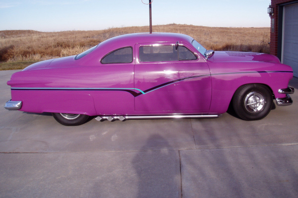 1951 FORD BUSINESS CUSTOM COUPE - Side Profile - 21982