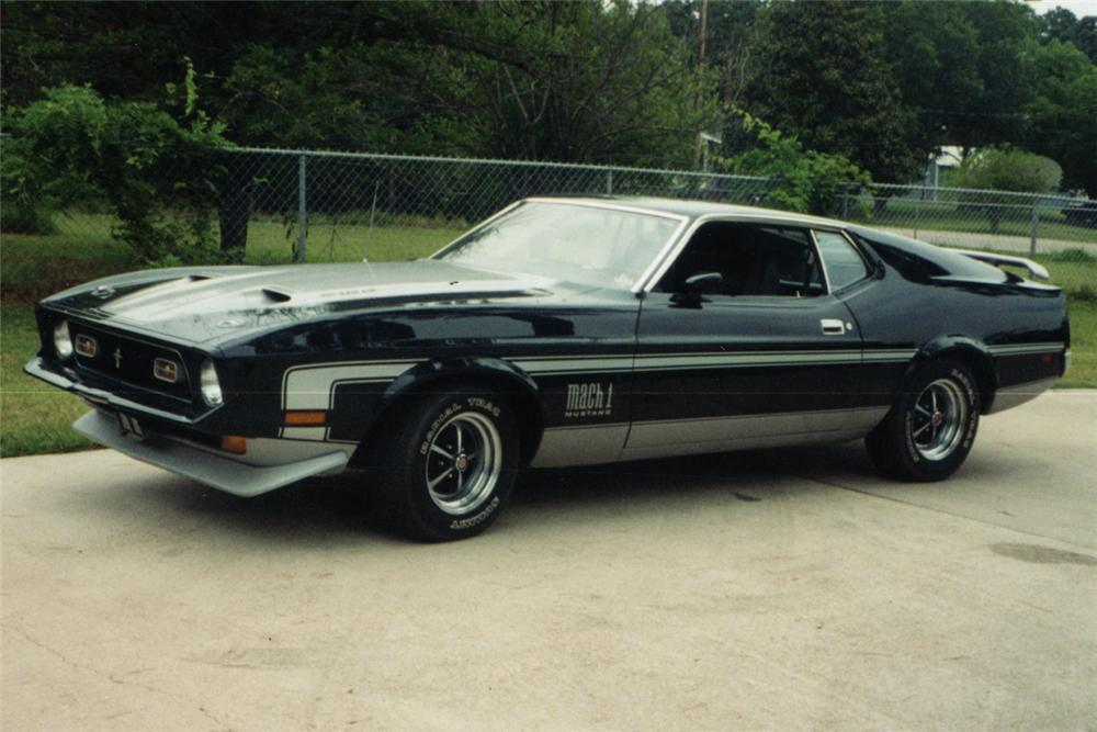 1971 ford mustang mach 1 fastback front 3 4 21985. Cars Review. Best American Auto & Cars Review