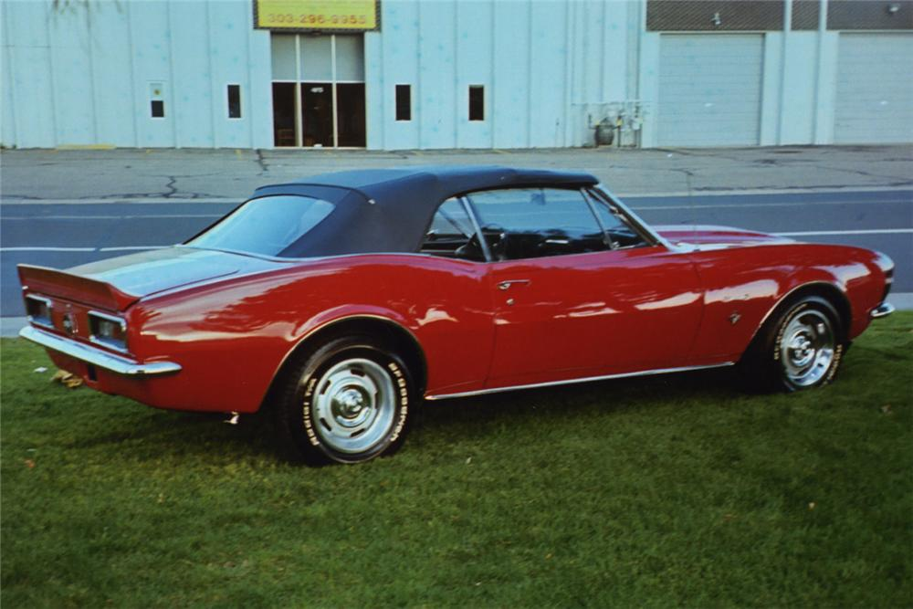 1967 CHEVROLET CAMARO CONVERTIBLE - Rear 3/4 - 21992