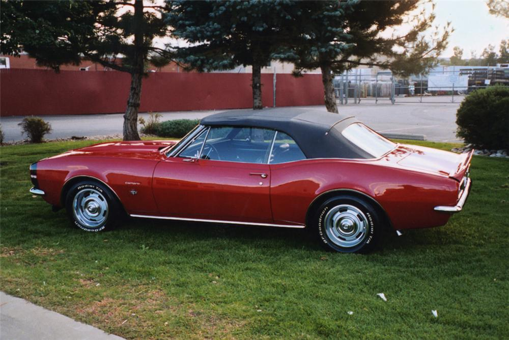 1967 CHEVROLET CAMARO CONVERTIBLE - Side Profile - 21992