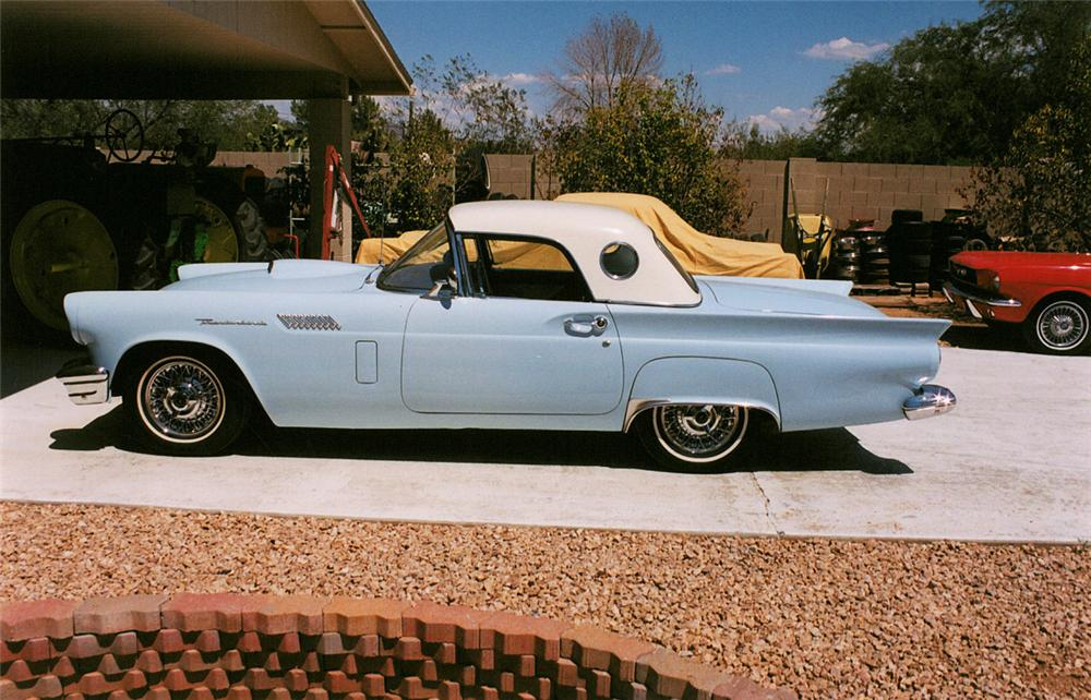 1957 FORD THUNDERBIRD CONVERTIBLE - Side Profile - 21997