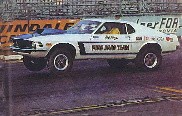 "1969 FORD MUSTANG ""FORD TEAM"" DRAG CAR - Side Profile - 21999"