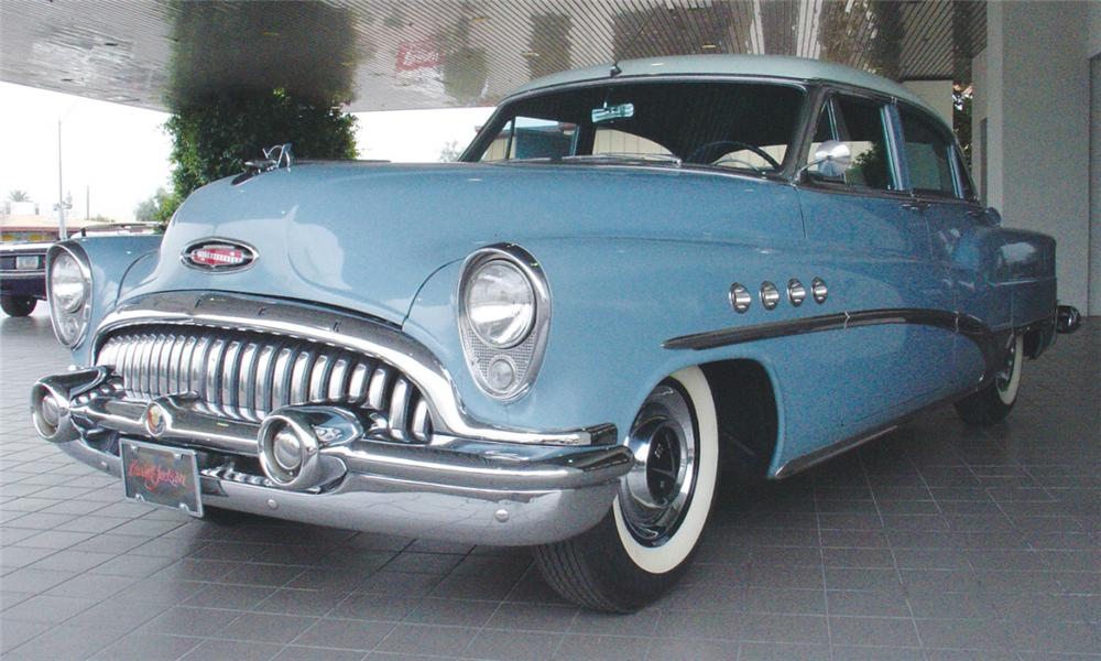 1953 BUICK ROADMASTER 4 DOOR SEDAN - Front 3/4 - 22005