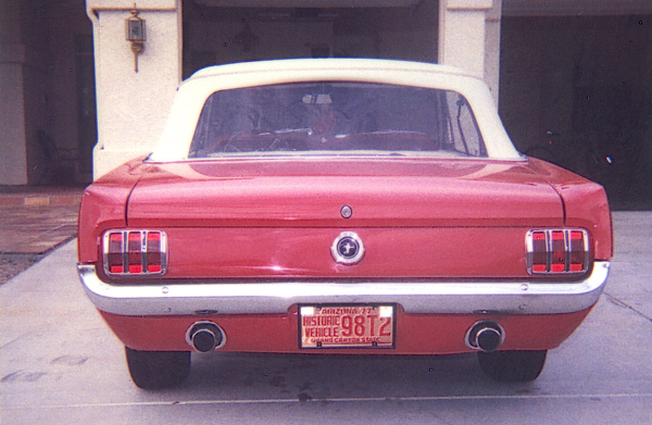 """1965 FORD MUSTANG GT """"K"""" CONVERTIBLE - Rear 3/4 - 22007"""