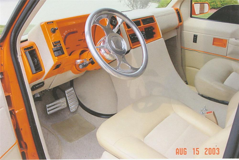 1987 CHEVROLET VAN - Interior - 22009