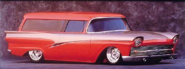 "1957 FORD ""INTRUDER"" CUSTOM WAGON - Front 3/4 - 22023"