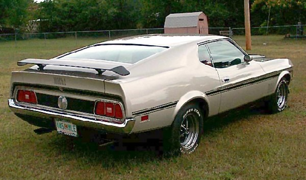 1971 FORD MUSTANG MACH 1 FASTBACK - Rear 3/4 - 22128