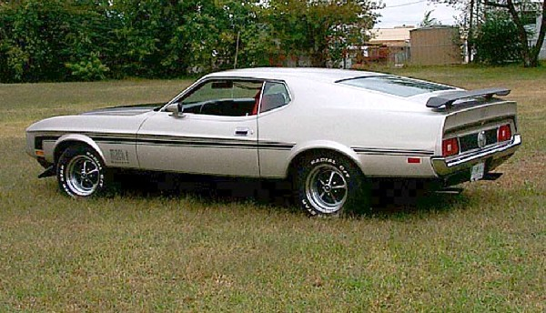 1971 FORD MUSTANG MACH 1 FASTBACK - Side Profile - 22128