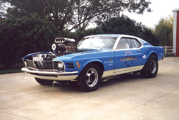 """1970 FORD MUSTANG BOSS 429 SUPERBOSS """"LAWMAN"""" - Front 3/4 - 22152"""