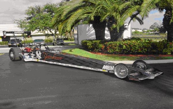 0 RACE CAR NHRA TOP FUEL DRAGSTER - Front 3/4 - 22153