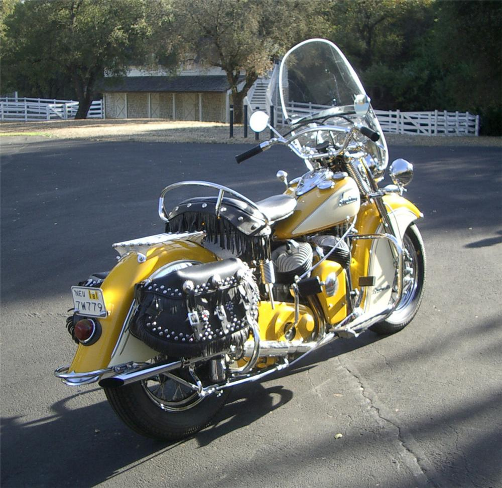 1948 INDIAN CHIEF ROADMASTER MOTORCYCLE - Rear 3/4 - 22162