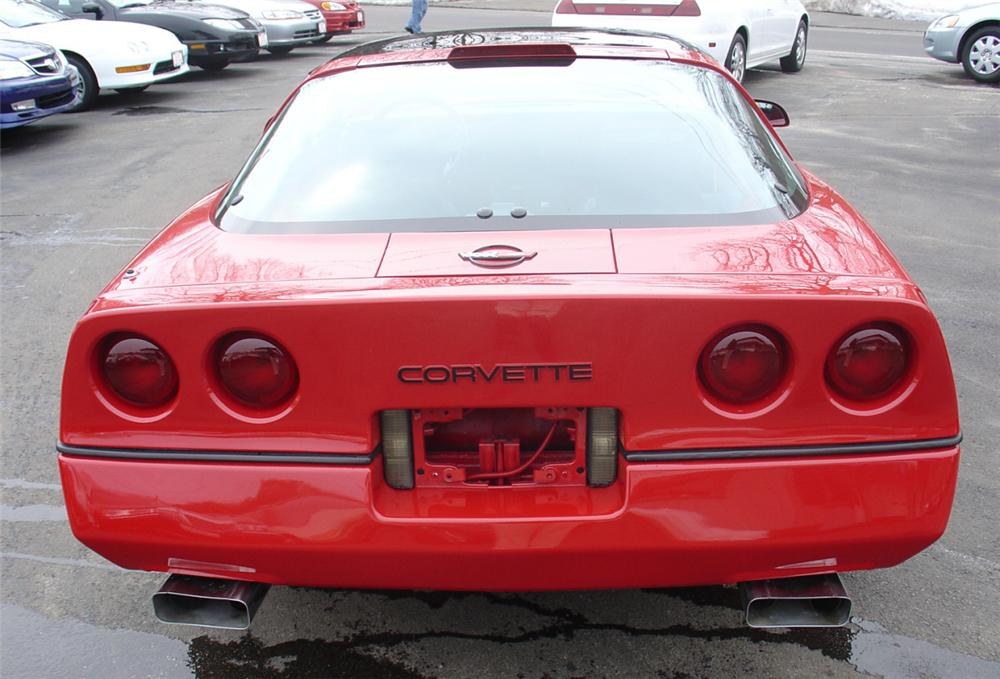 1986 CHEVROLET CORVETTE COUPE - Rear 3/4 - 22163