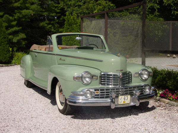 1948 LINCOLN CONVERTIBLE COUPE - Front 3/4 - 22177