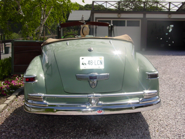 1948 LINCOLN CONVERTIBLE COUPE - Rear 3/4 - 22177
