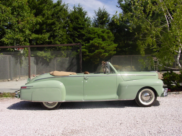 1948 LINCOLN CONVERTIBLE COUPE - Side Profile - 22177