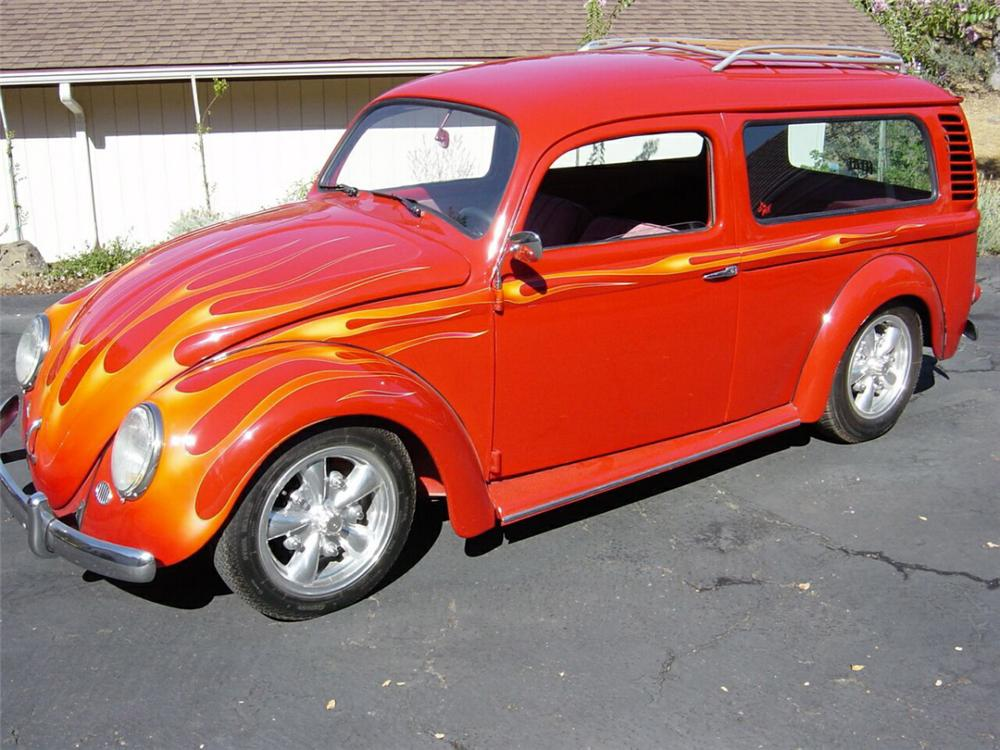 1959 VOLKSWAGEN CUSTOM BUG BUS - Front 3/4 - 22192