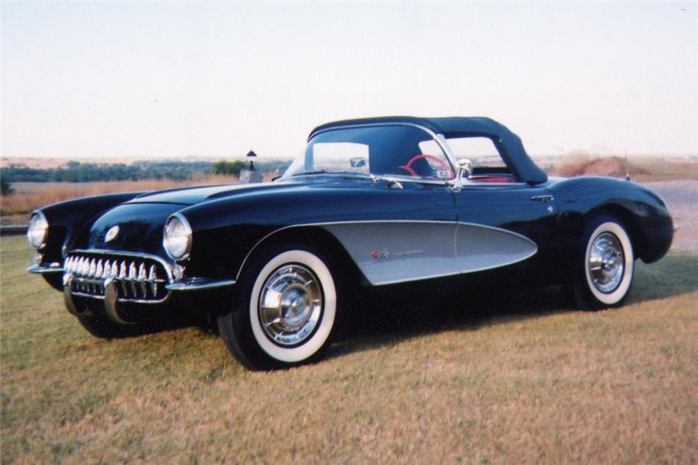1957 CHEVROLET CORVETTE FI CONVERTIBLE - Side Profile - 22226