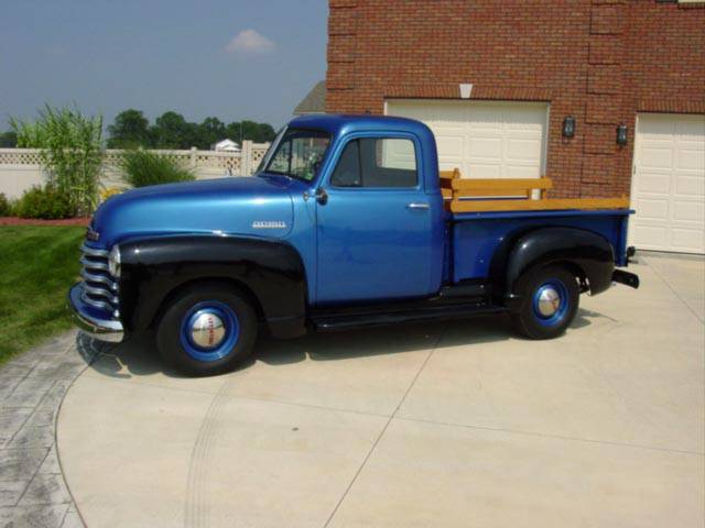 1951 CHEVROLET PICKUP - Side Profile - 22230