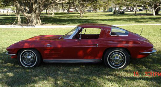1963 CHEVROLET CORVETTE FI SPLIT WINDOW COUPE - Side Profile - 22253