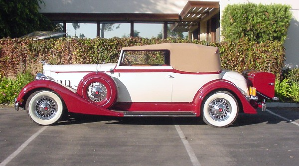 1934 PACKARD CONVERTIBLE - Side Profile - 22385