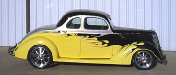 1937 FORD 5 WINDOW COUPE - Side Profile - 22393