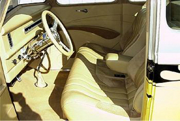 1937 FORD 5 WINDOW COUPE - Interior - 22394