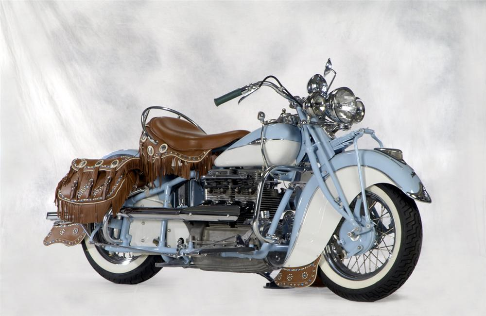1941 INDIAN IN LINE MOTORCYCLE - Front 3/4 - 22399