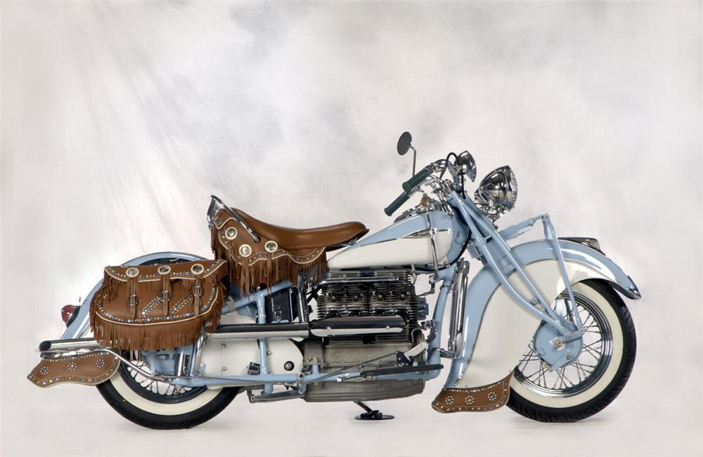 1941 INDIAN IN LINE MOTORCYCLE - Side Profile - 22399